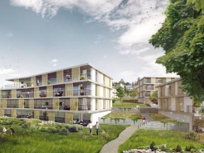 Bâtiment de logements sur le site des Boverattes, Pully
