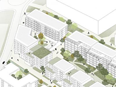 Ecoquartier des Plaines-du-Loup,  pièce urbaine B, Lausanne