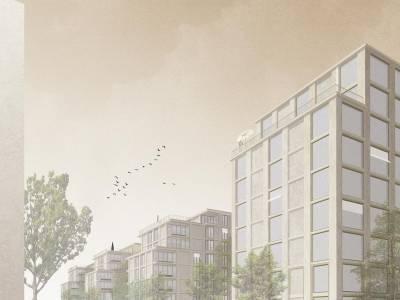 """Lot """"SILL"""", pièce urbaine B, écoquartier des Plaines-du-Loup, Lausanne"""